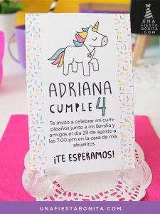 invitaciones de unicornio (3)