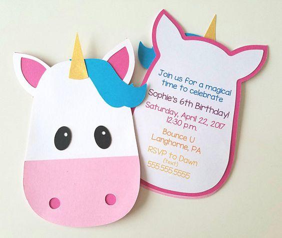 invitaciones sencillas para fiesta de unicornio (2)