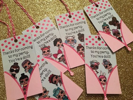 simple invitations to party girl dolls theme lol (2)