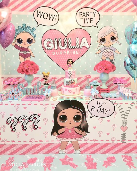 simple invitations to party girl dolls theme lol