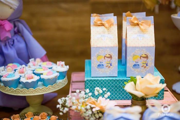 mesa de dulces o postres tema cenicienta