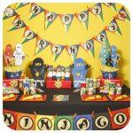 mesa de postres lego ninjago