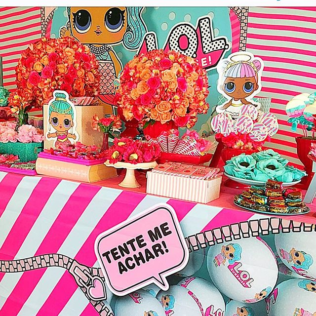 dessert table for party girl dolls theme lol (2)