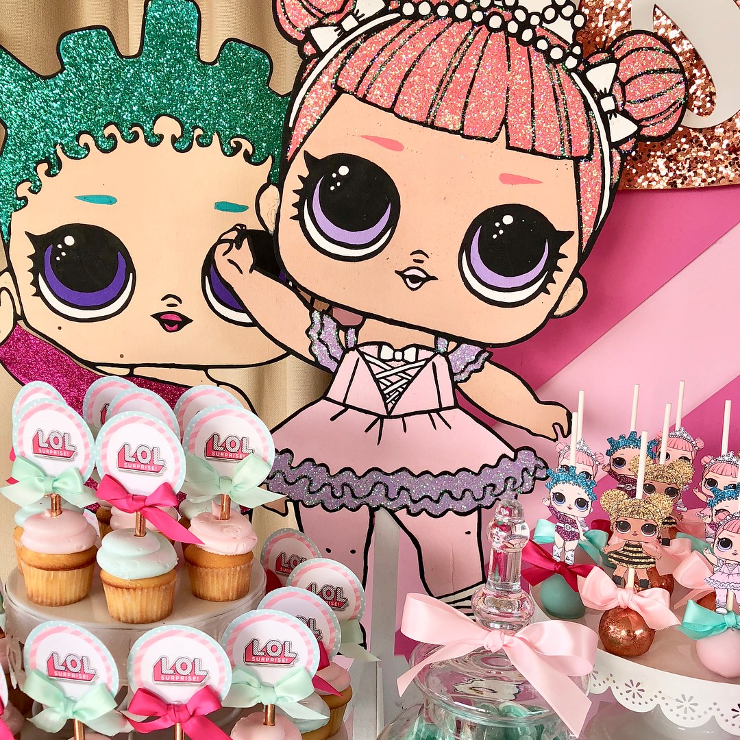 dessert table for party girl dolls theme lol (3)
