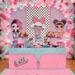 mesa de postres para fiesta nina tema munecas lol (5)