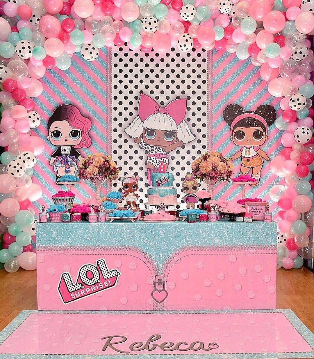 dessert table for party girl dolls theme lol (5)