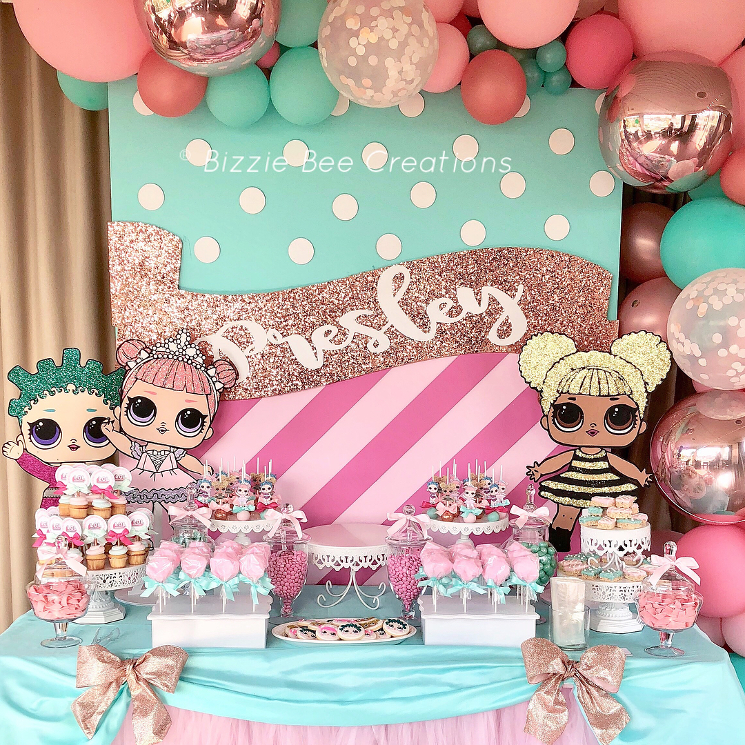 dessert table for party girl dolls theme lol