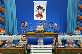 mesa principal de goku estilo vintage