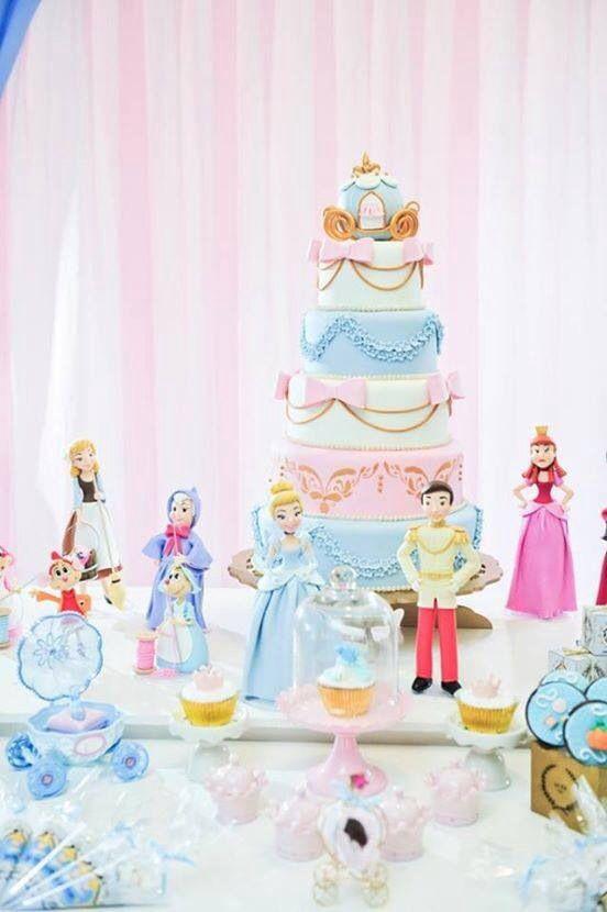 pastel de cumpleanos de cenicienta (5)