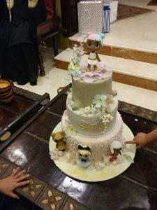 pastel de dos pisos para nina tarta de cumpleanos tema munecas lol (3)