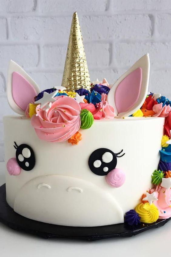 pastel de fondant de unicornio para nina (2)