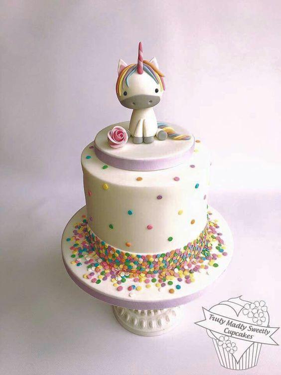 pastel de fondant de unicornio para nina (3)