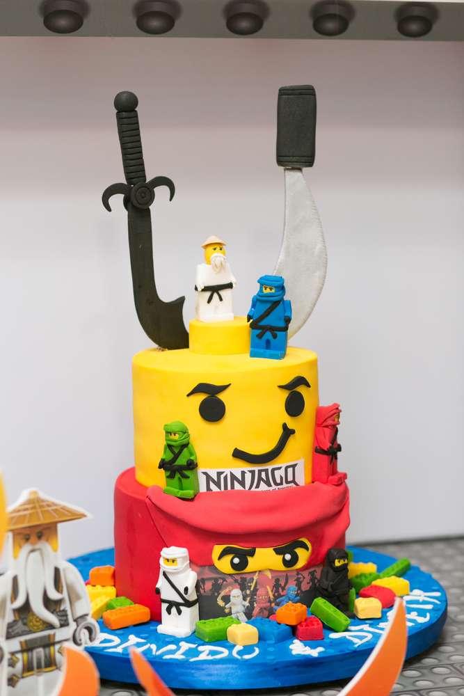 pastel para cumpleanos de ninjago