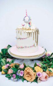 pastel pequeno para fiesta de unicornio (2)