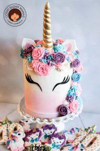pastel sencillo para fiesta de unicornio (5)