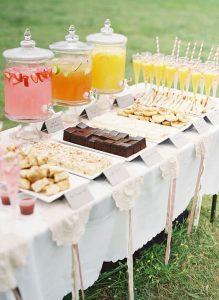 Selección de alimentos o catering