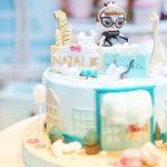 tarta de cumpleanos un piso tema muneca lol (4)