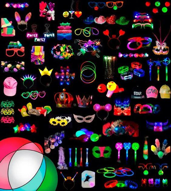 accesorios neon para fiestas