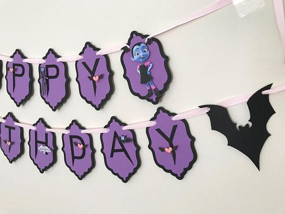 Decoración de Vampirina para cumpleaños