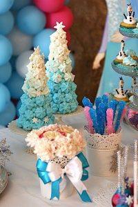 como decorar mesa de dulces de frozen 5