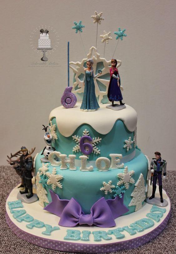 como decorar una torta de frozen 2