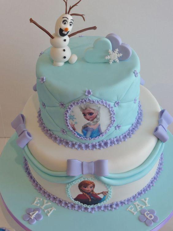 como decorar una torta de frozen 3