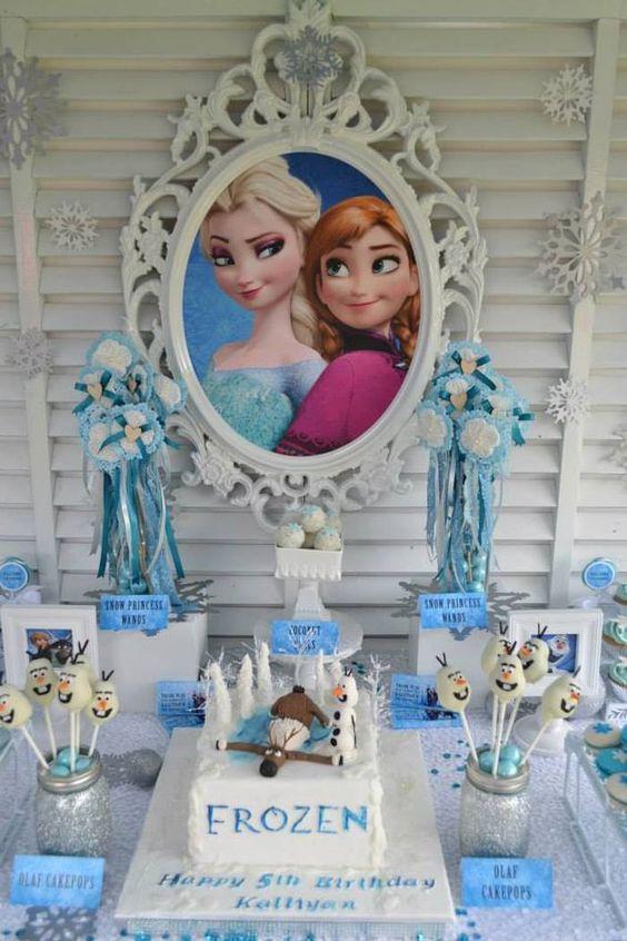 cumpleanos de nina decoracion frozen