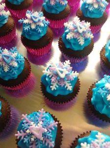 cupcake de frozen en fondant