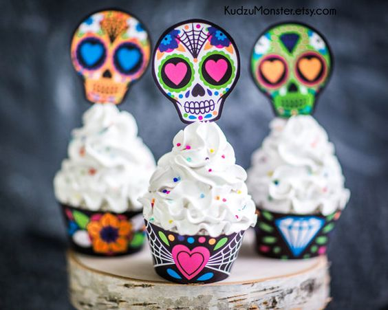 Skull Cupcake Decorations