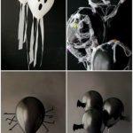 decoracion con globos para fiesta de vampirina