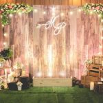 decoracion de photocall con luces