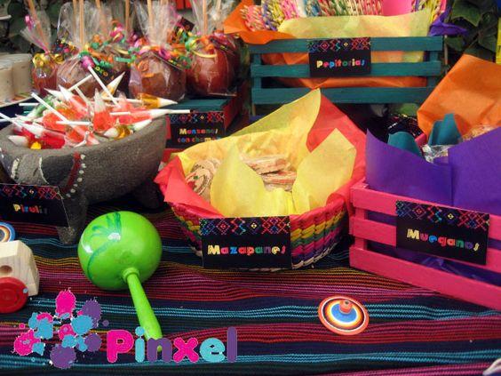 decoracion mesa de dulces fiesta mexicana coco