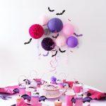 decoracion para fiesta de niña con tema de vampirina