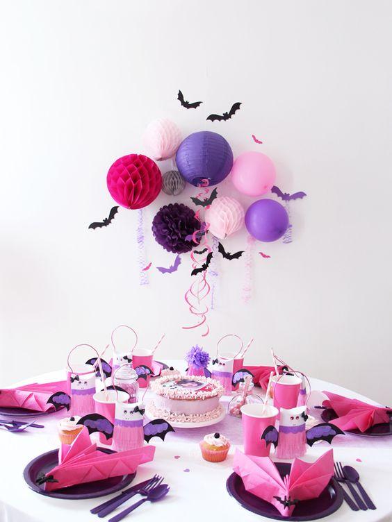 decoracion para fiesta de ni a con tema de vampirina