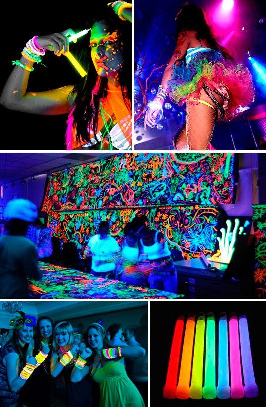 decoracion para fiestas neon