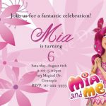 diseno de invitaciones de mia and me