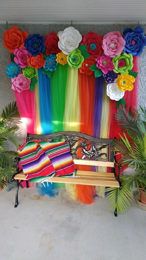 Escenario estilo mexicano decoracion de fiestas for Cabina del mickey