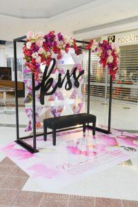 escenario para fotos con flores