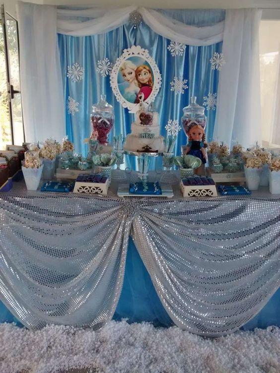festejo frozen princesa disney