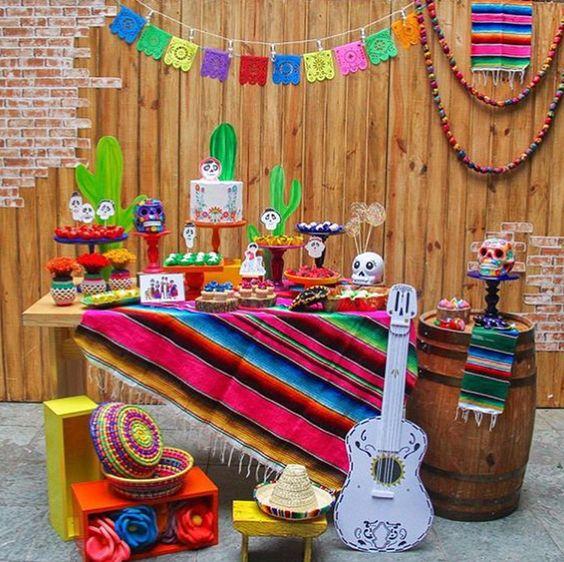 Decoración de coco para cumpleaños