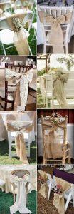 ideas para decorar las sillas de una boda