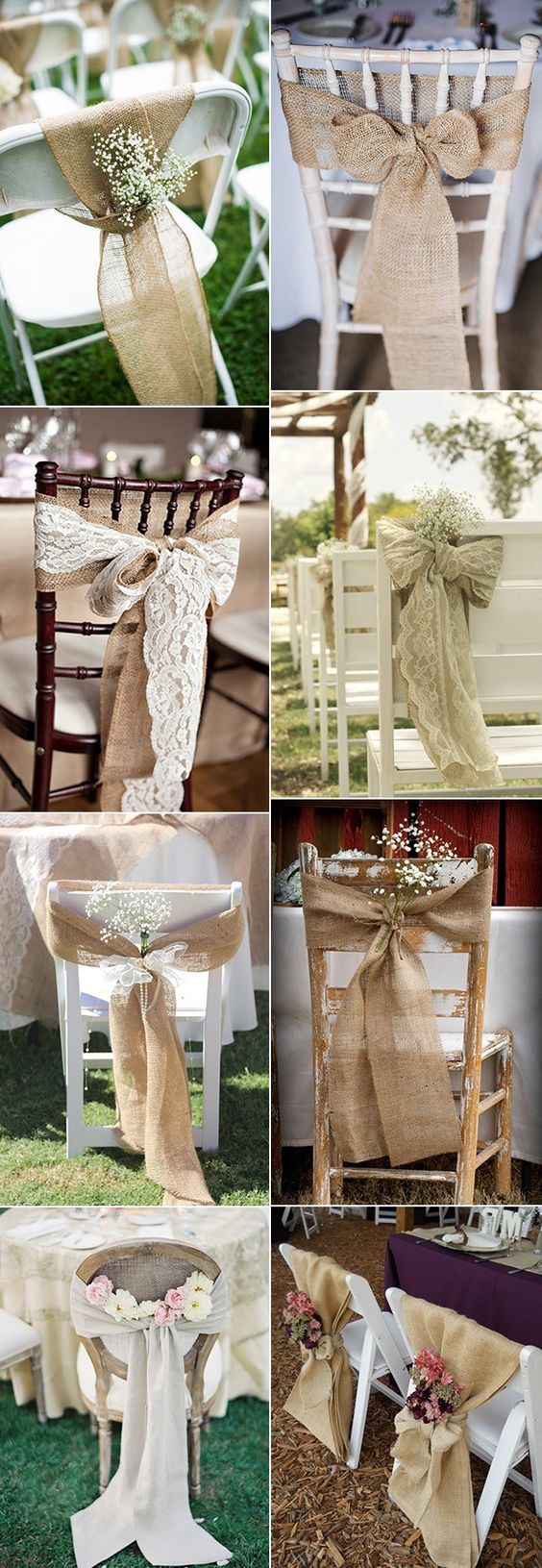 ideas para decorar las sillas de una boda