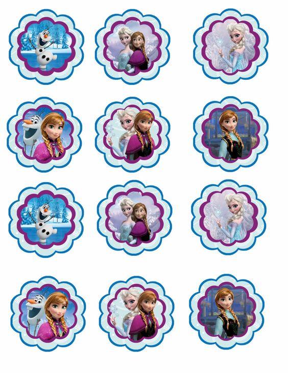 imagen de frozen para cupcakes