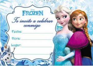 invitacion de frozen para editar