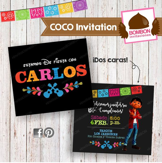 Invitaciones fiesta de coco