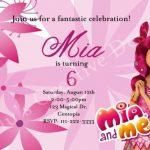 invitacion para fiesta tematica de mia and me