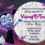 invitacion para fiesta tematica de vampirina