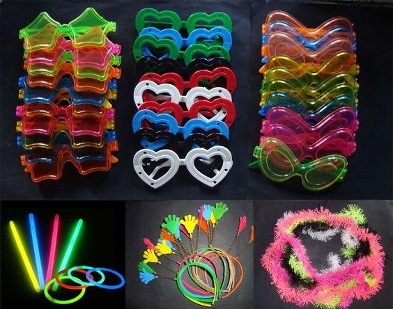 lentes neon para eventos