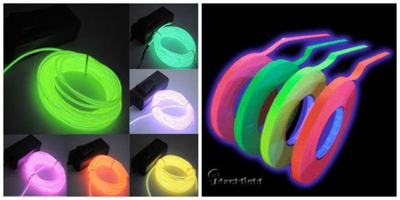 liston neon para fiestas