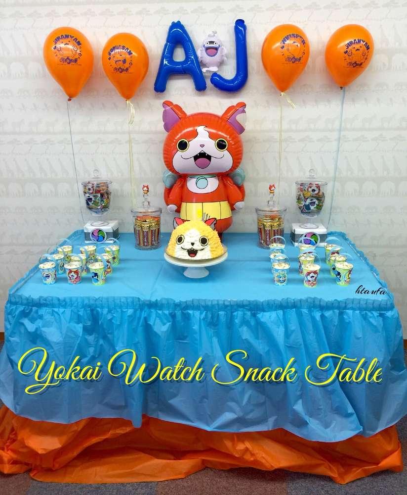 cumplea os yo kai watch decoraci n para fiesta de yo kai